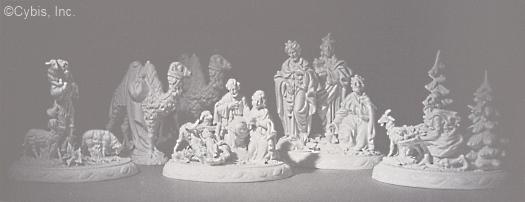 NATIVITY PORCELAIN MURALS circa 1950s by Cybis
