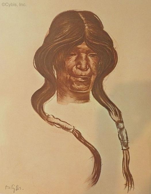 OLD WOMAN Hopi portrait by Cybis Folio One