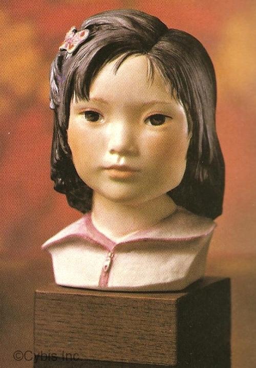 ORIENTAL GIRL LOTUS BLOSSOM by Cybis