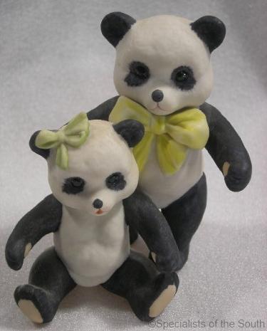 PANDA BEARS circa 1970s by Cybis