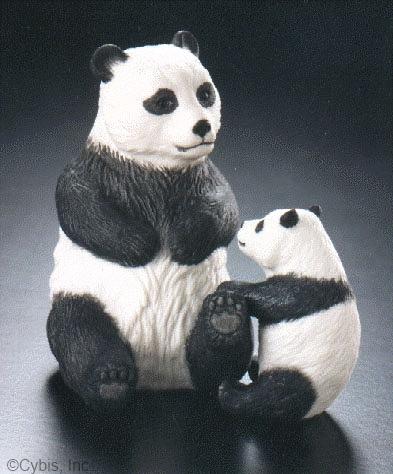 PANDA WITH CUB by Cybis