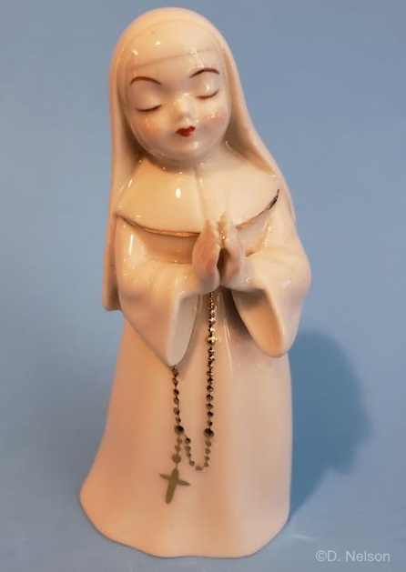 PRAYING NUN by Cybis circa 1950s view 1