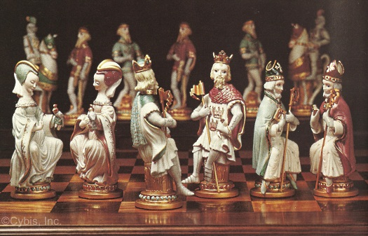 PRESIDENTIAL CHESS SET 1972 by Cybis