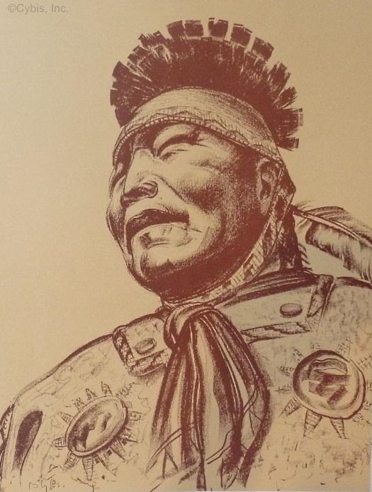 PRIDE RUNS DEEP Apache warrior portrait by Cybis Folio One