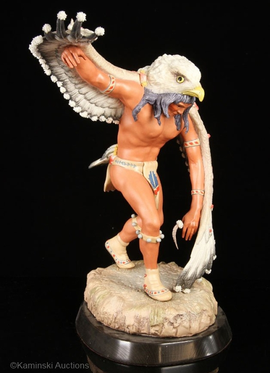Pueblo EAGLE DANCER by Cybis