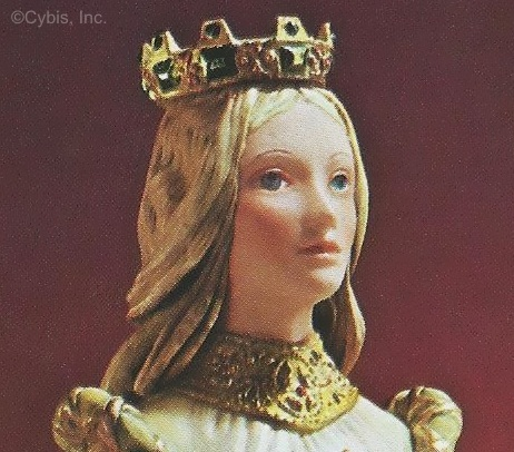 Queen Esther with blue eyes and blonde hair 1974 advertising photo