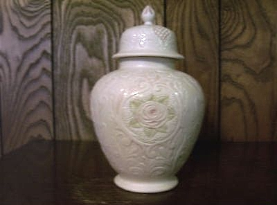 ROSE GINGER JAR by Cybis