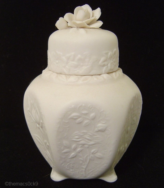 ROSE JAR in white by Cybis