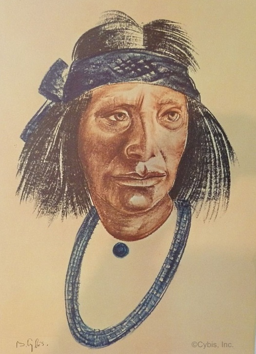 THE FAREWELL Hopi portrait by Cybis Folio One