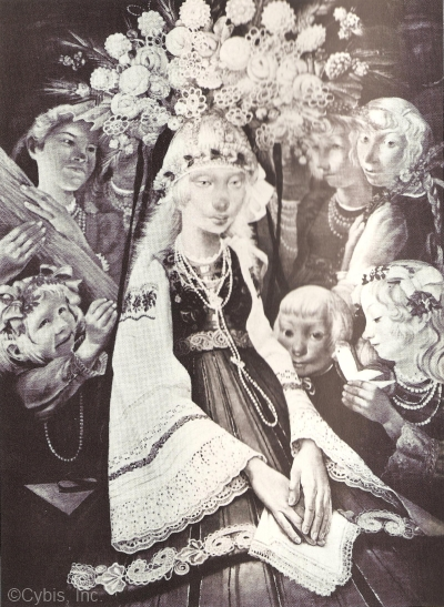 THE POLISH BRIDE painting by Boleslaw Cybis