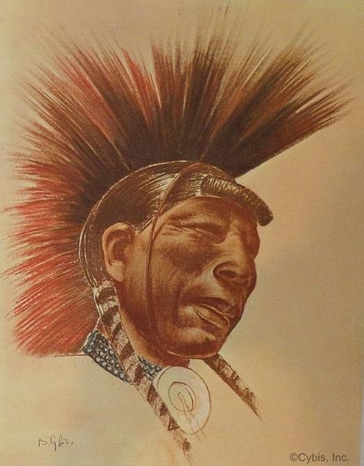 TIMELESS RITUAL Taos warrior portrait by Cybis Folio One