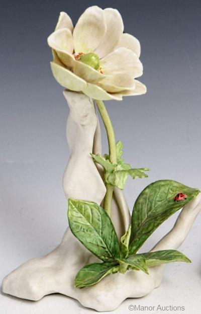 WINDFLOWER in white by Cybis