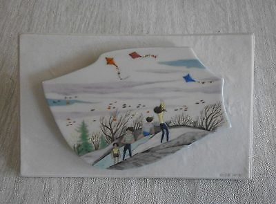 WINDY DAY Limnette plaque by Cybis on porcelain mount