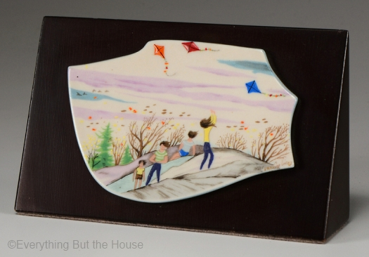 Windy Day Limnette plaque by Cybis on wood mount 1973