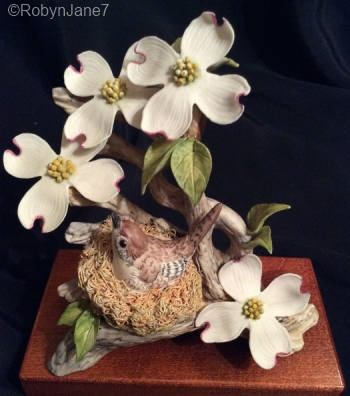 Wood Wren With Dogwood view 2