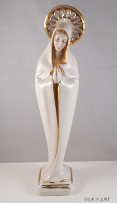 CYBIS 1950s praying madonna full figure with halo