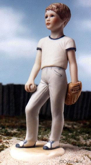 BASEBALL PLAYER young boy by Cybis