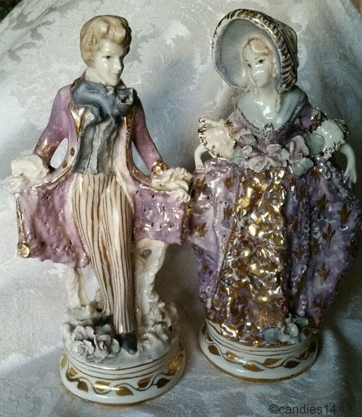 Man and Woman Dancing Pair signed Cordey and Cybis circa 1940s