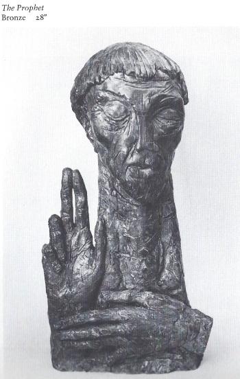 The Prophet bronze by Ispanky