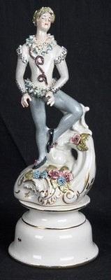 Cordey male ballet figure on strange pedestal