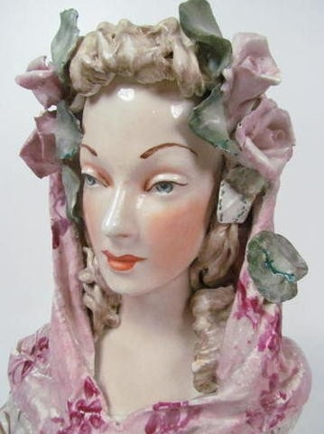 Cordey lady bust with Cybis eyes detail