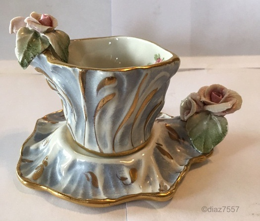 Cordey freeform cup and saucer view 1