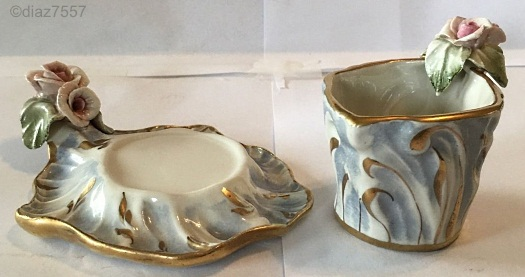 Cordey freeform cup and saucer view 2