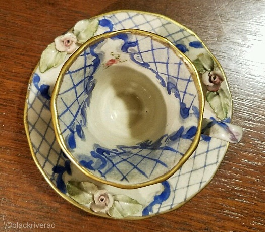 Cordey cup and saucer Lomonsov design view 2