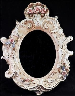 Cordey mirror with roses and scrolls