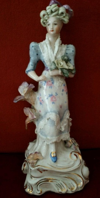 Cordey lady with flowers and leaves view 1