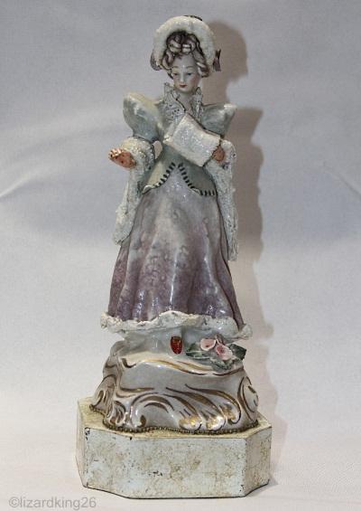 Cordey Winter Girl as lamp base