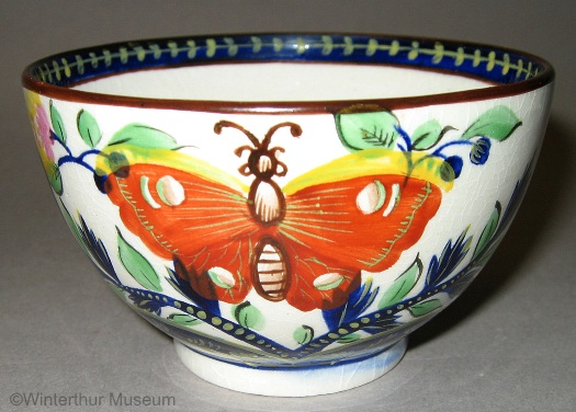 BUTTERFLY MOTIF TEACUP by Cybis 1940s