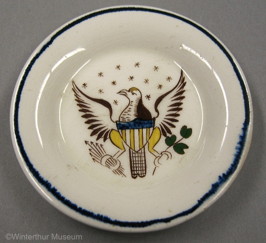 EAGLE CUP PLATE painted by Cybis 1940s