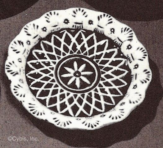 FLOWER LACE AND WHEAT CUP PLATE by Cybis 1940s