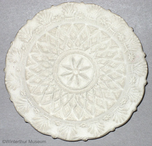 FLOWER LACE AND WHEAT CUP PLATE in white bisque by Cybis 1940s