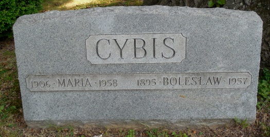 gravesite of Boleslaw and Marja Cybis