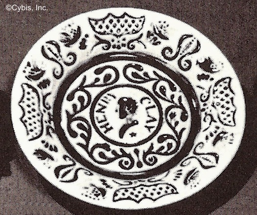 HENRY CLAY CUP PLATE by Cybis ca late 1940s