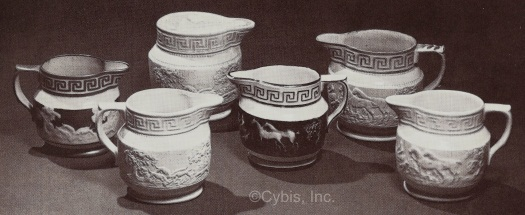 LUSTERWARE CREAMERS by Cybis late 1940s early 1950s