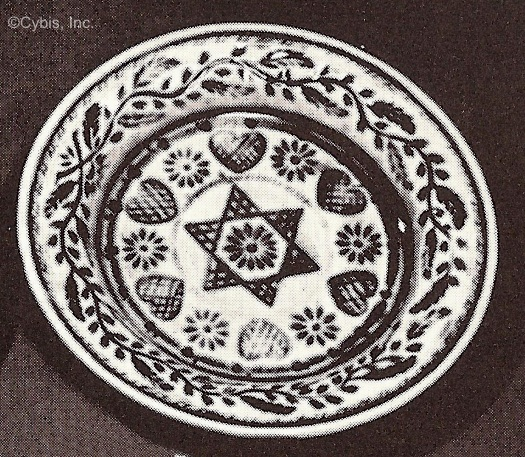 STAR HEARTS AND FLOWERS CUP PLATE by Cybis