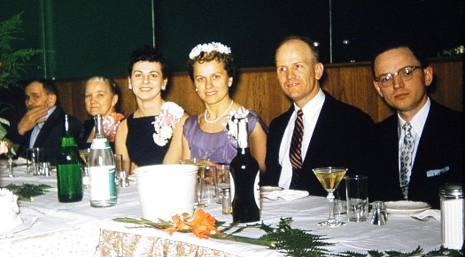 Chorlton wedding table 1957