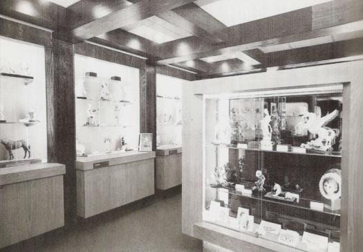 Cybis display room at Brielle Galleries 1976