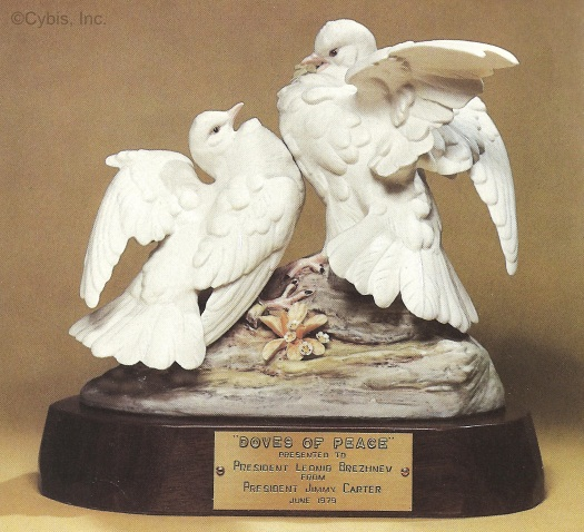 DOVES OF PEACE by Cybis presented at SALT II talks