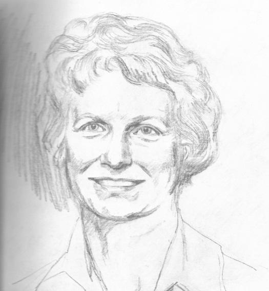 Marylin Chorlton portrait sketch circa 1970s