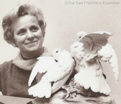 Marylin Chorlton with Cybis Doves of Peace ca 1970s