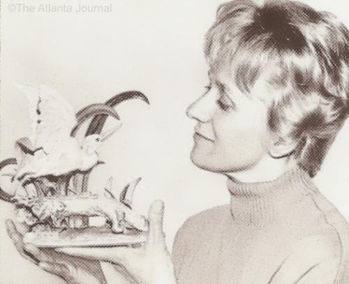 Marylin Chorlton with Cybis Little Blue Heron ca 1960s
