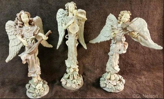 Angelic Orchestra 3 of 6 pieces by Cybis ca 1940s view 1