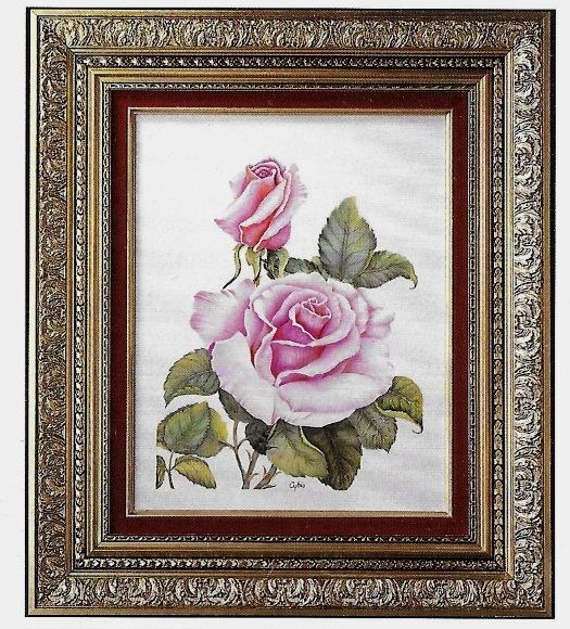 ROSE PLAQUE NATURES BEAUTY by Cybis